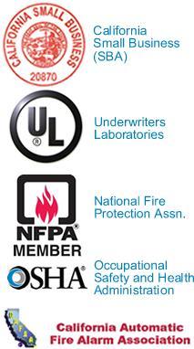California SBA, UL, NFPA member,